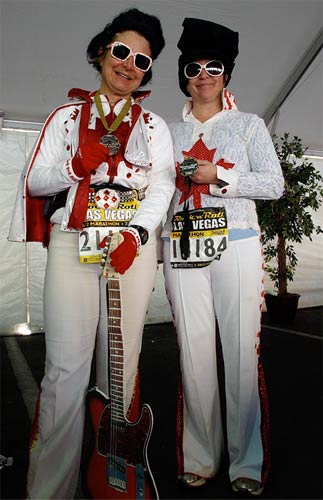 Denise and Maxine ran dressed up as Elvis